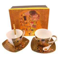 Gustav Klimt teás csésze+alátét (2db, dobozos)
