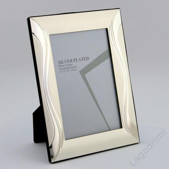 Fém képkeret - függőleges hullám II. (10x15cm) (silver plated)