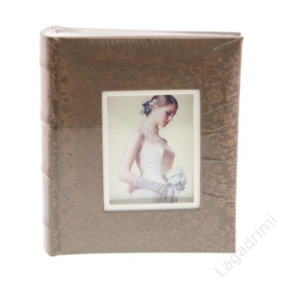 Fényképalbum esküvő (inda mintás, bronz, 100 kép, 10x15cm)