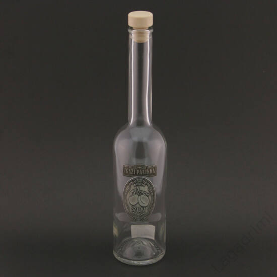 Óncímkés üveg 0,5l - Igazi pálinka, szilva