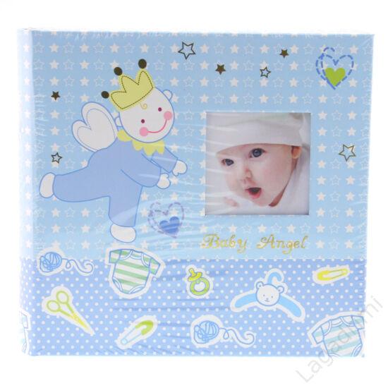 """Babás fényképalbum """"Baby Angel"""" (200kép, 10x15cm, kék)"""