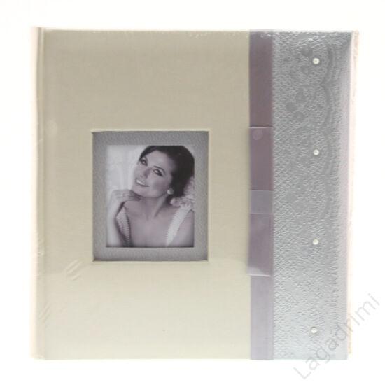 Esküvői fényképalbum (200kép, 10x15cm, ezüst)