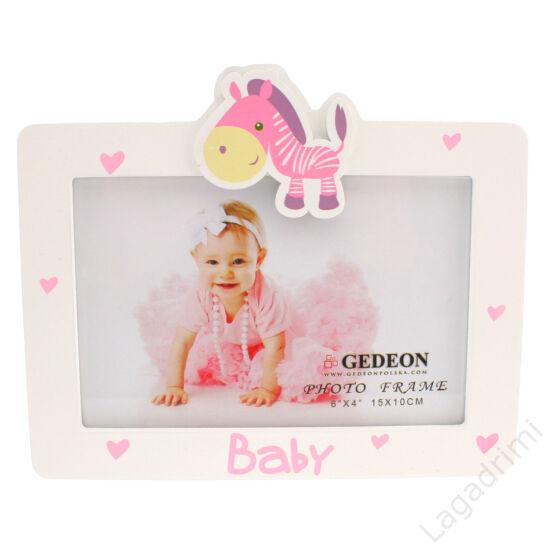 """Képkeret """"BABY"""" rózsaszín  (15x10cm)"""