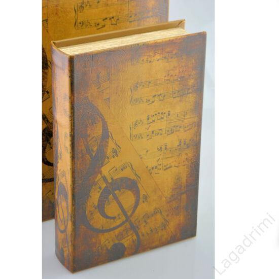 Műbőr könyvdoboz (22x33 cm) - Violinkulcs