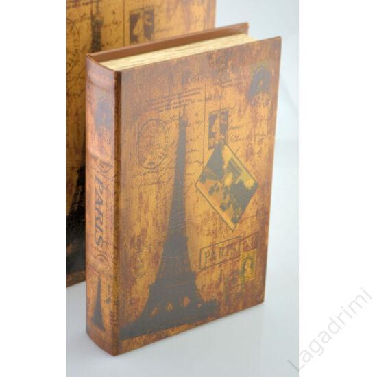 Műbőr könyvdoboz (22x33 cm) - Paris