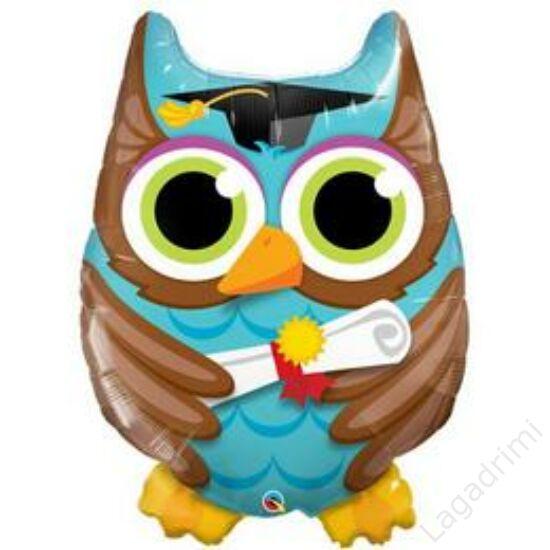 34 inch-es (86cm) Bagoly - Graduate Owl Ballagási Fólia Lufi