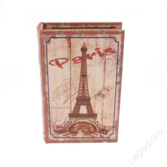 Műbőr könyvdoboz (17x26cm) - Paris