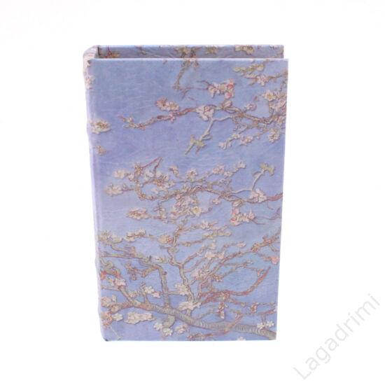Műbőr könyvdoboz, Van Gogh (17x26cm) - Mandulavirágzás