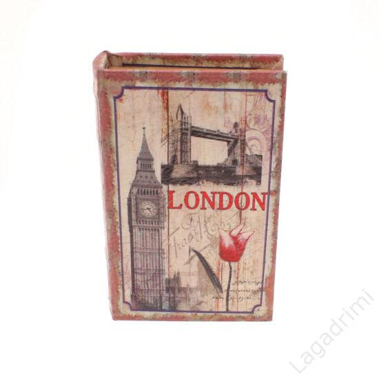 Műbőr könyvdoboz (17x26cm) - London
