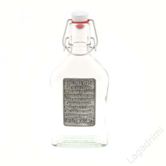 Óncímkés csatos üveg 0,2l - Pálinka vers