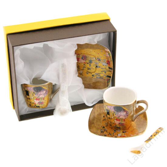 Gustav Klimt espresso csésze+alátét (2db, dobozos)
