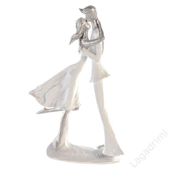 "Polyresin szobor ""Csók"" (20x32x9cm) - Casablanca"