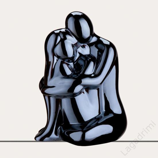Kerámia szobor - Francis ölelés 2 (15x15x25cm) - Gilde