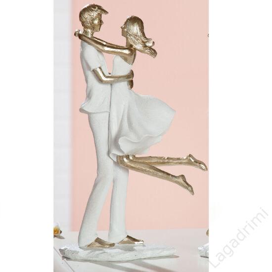 "Polyresin szobor ""Couple Lovers""  (18,5x32,5x9,5cm) - Gilde"