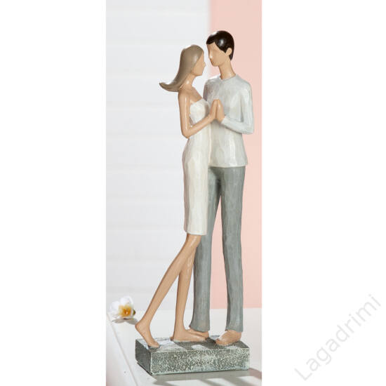 """Polyresin szobor """"Lovers Eye Contact"""" (9x26x6cm) - Gilde"""