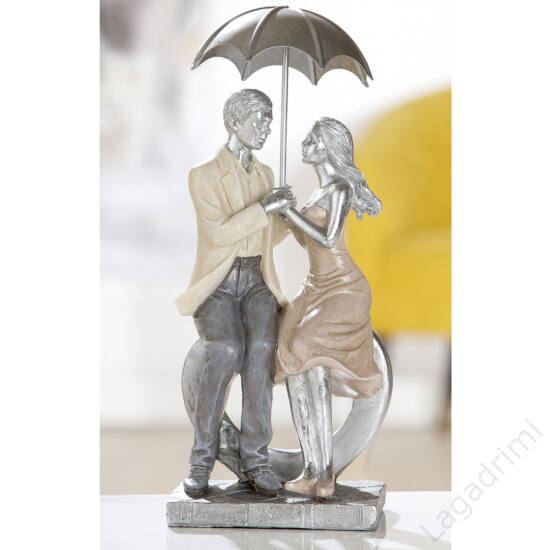 "Polyresin szobor - ""Lovers/Umbrella"" (11x25x7,5cm) - Gilde"