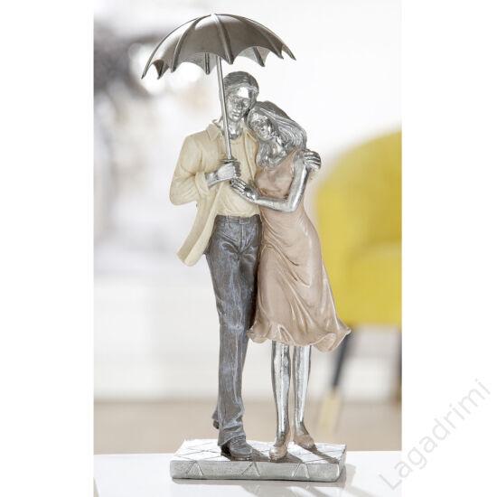 "Polyresin szobor - ""Lovers/Umbrella"" 2 (11x28,5x8,5cm) - Gilde"