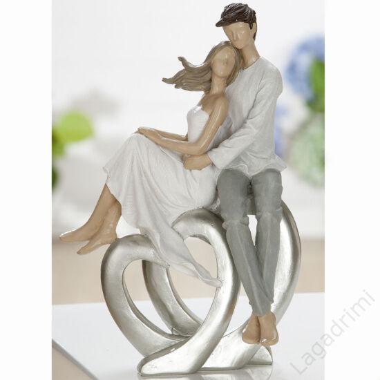 """Polyresin szobor """"Duble Heart"""" (18x24x10cm) - Gilde"""