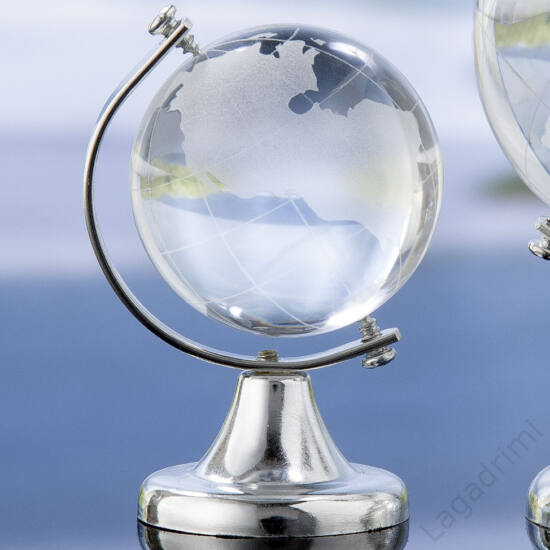 Mini üveg földgömb (4,5x7x4,5cm) - Gilde