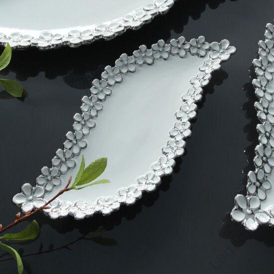 Diana fehér-ezüst kerámia dísztál 54,5cm - Gilde