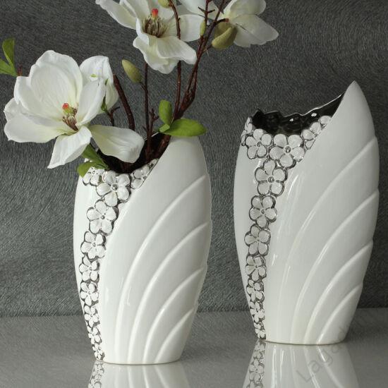 Diana fehér-ezüst kerámia váza 30,5cm - Gilde