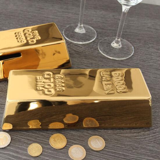 "Kerámia persely ""Gold bar""  (21,5x8,5x5,5cm) - Gilde"