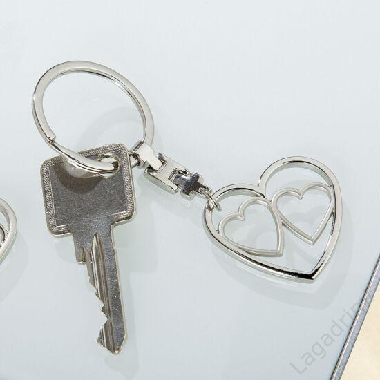 Tripla szív kulcstartó - Gilde