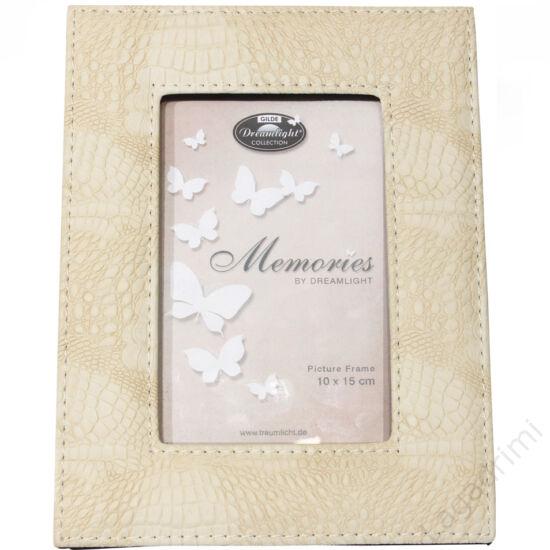 "Bőr hatású képkeret ""Memories"" (fehér) 10x15cm - Gilde"