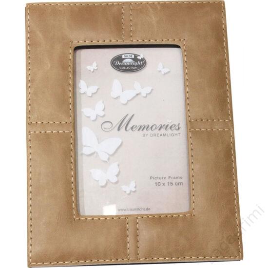 "Bőr hatású képkeret ""Memories"" (cappuccino) 10x15cm - Gilde"