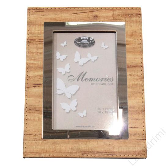 "Bőr hatású képkeret ""Memories"" (világos barna) 10x15cm - Gilde"