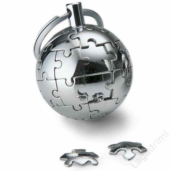 Földgömb kulcstartó (rozsdamentes acél) - Philippi
