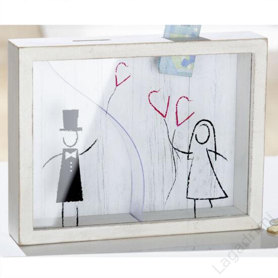 Esküvői persely (MDF, 22x 17x4,2cm)