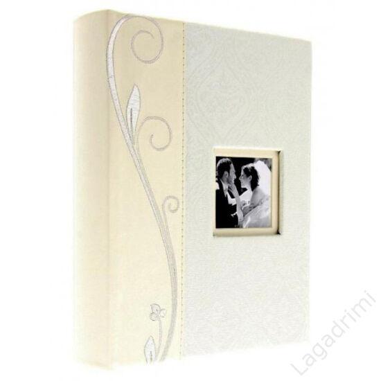 Fényképalbum esküvő Ti amo törtfehér színben (40 oldal, beragasztható)