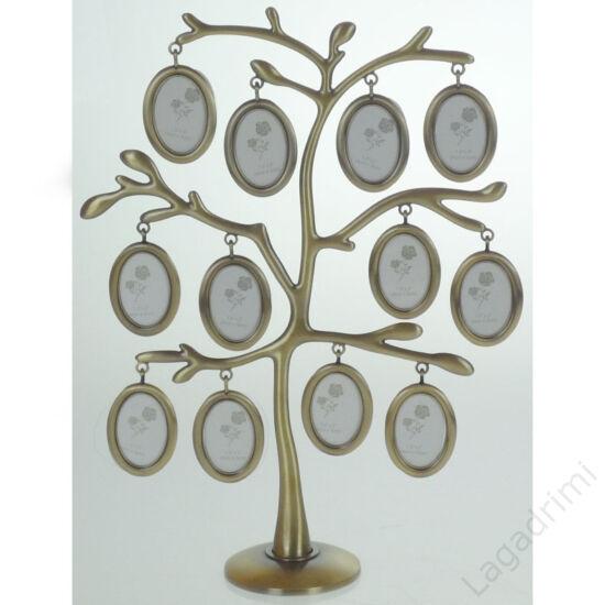 Családfa képkeret - 12 képes (bronz)