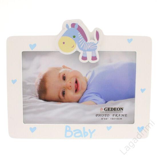"""Képkeret """"BABY"""" kék  (15x10cm)"""