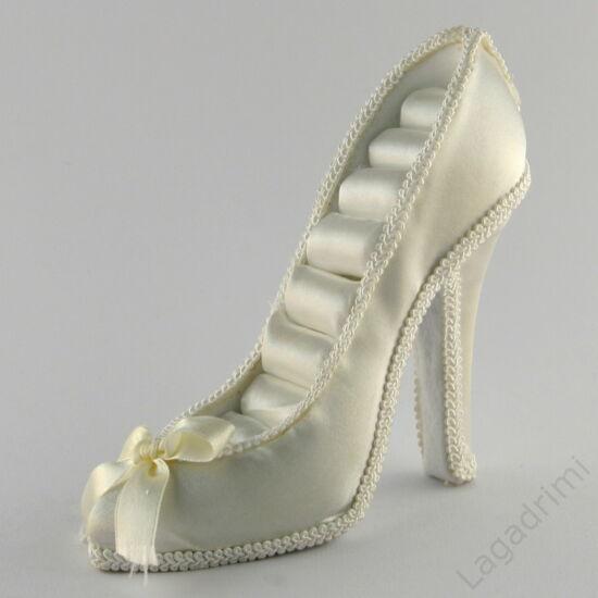 Ékszertartó cipő (fehér)