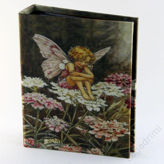 Selyem fényképalbum (10x15cm, 200kép) - Virágtündér