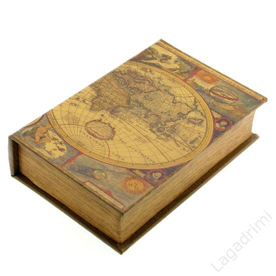 Műbőr könyvdoboz (27x18 cm) - Föld