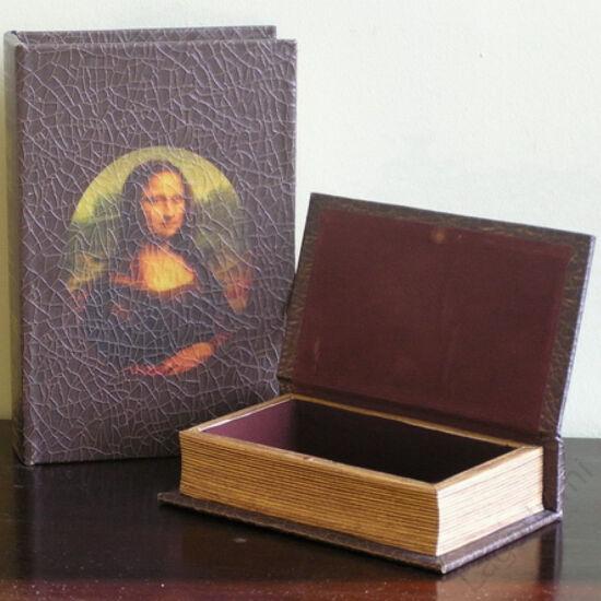 Műbőr könyvdoboz (27x18 cm) - Mona Lisa
