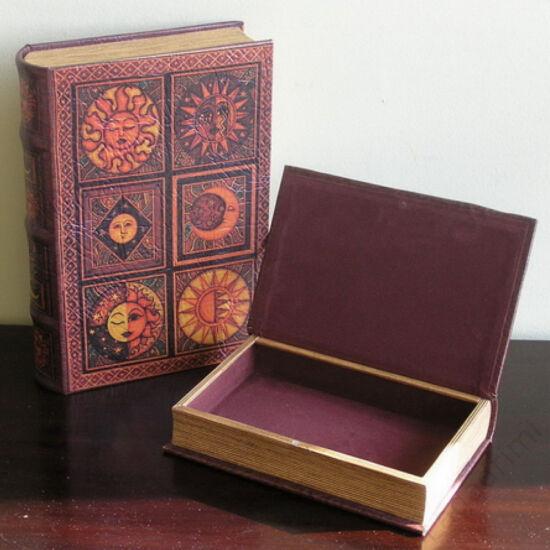 Műbőr könyvdoboz (33x23 cm) - Asztro