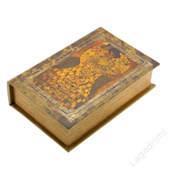 Műbőr könyvdoboz (27x18 cm) - Klimt