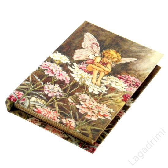 Selyem könyvdoboz (21x15 cm) - Tündér