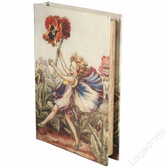 Selyem könyvdoboz (21x15 cm) - Pipacs-tündér