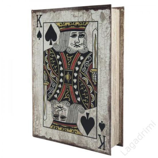 Selyem könyvdoboz (30x21 cm) - Kártya