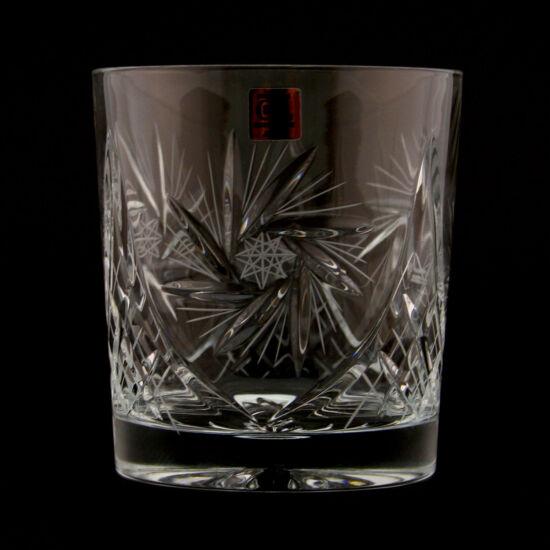 Victoria forgócsillagos kristály whisky 2  pohár (300ml) 6 db-os szett - Magyar termék