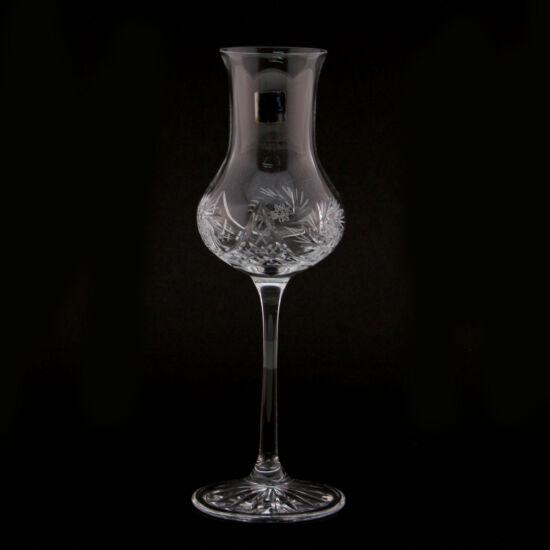 Victoria forgócsillagos kristály grappás pohár (80ml) 6 db-os szett - Magyar termék