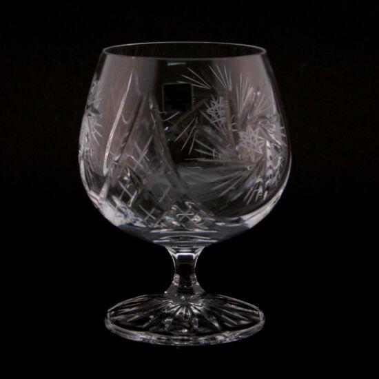 Victoria forgócsillagos kristály brandy kehely L (250ml) 6 db-os szett - Magyar termék