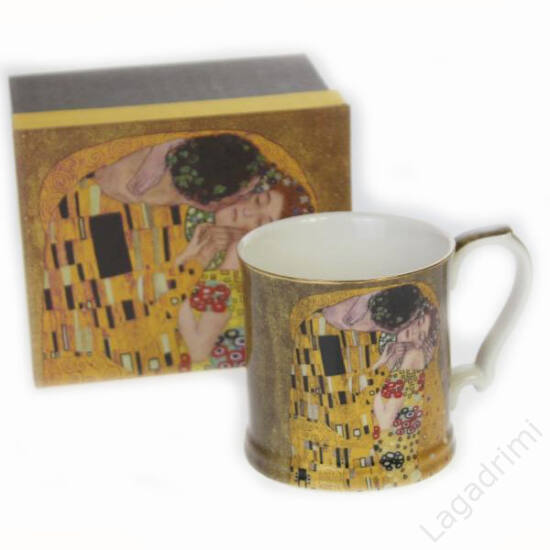 Gustav Klimt bögre (The Kiss) dobozos