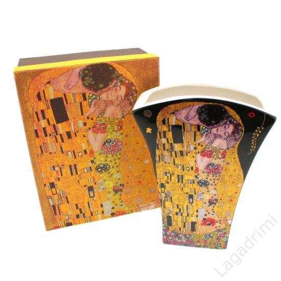 Gustav Klimt váza (The Kiss) dobozos, fekete (14,5x20x6cm)