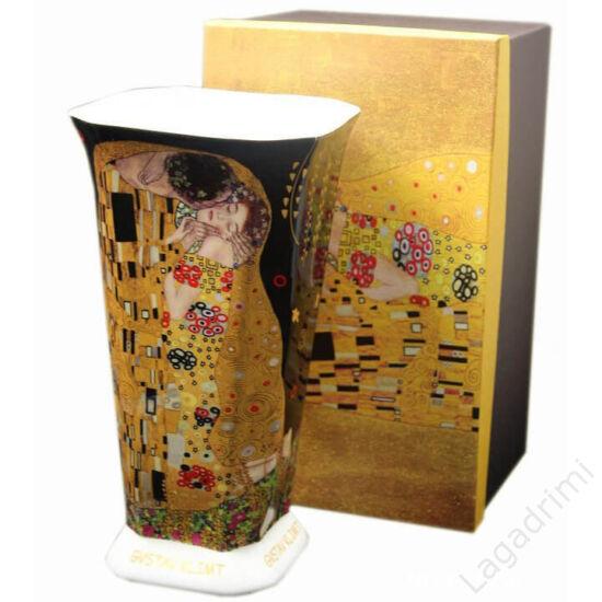 Gustav Klimt váza (The Kiss) dobozos, fekete (15,5x28x15,5cm)